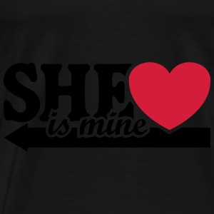 She's mine I love you my Girlfriend Jeg elsker Sweatshirts - Herre premium T-shirt