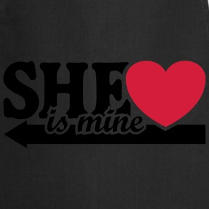 She is mine I love you Valentine's Day T-Shirts - Cooking Apron