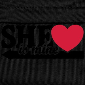 She is mine I love you Valentine's Day T-Shirts - Kids' Backpack