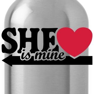 She is mine I love you Valentine's Day T-Shirts - Water Bottle