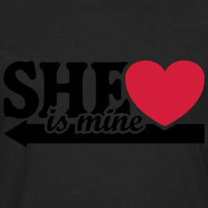 She is mine I love you Valentine's Day T-Shirts - Men's Premium Longsleeve Shirt