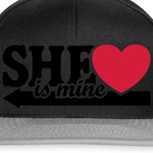 She is mine I love you Valentine's Day T-Shirts - Snapback Cap