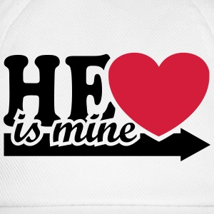 He is mine I love you my Boyfriend Valentine's Day - Baseball Cap