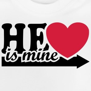 He is mine I love you my Boyfriend Man Husband Boy Camisetas - Camiseta bebé