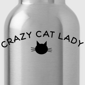 crazy cat lady T-Shirts - Trinkflasche