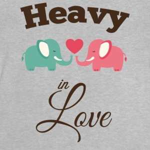 Heavy in love with cute elephant Long Sleeve Shirts - Baby T-Shirt