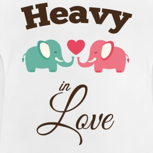 Heavy in love with cute elephant Shirts - Baby T-Shirt