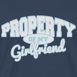 Property of my girlfriend Long sleeve shirts - Men's Premium T-Shirt