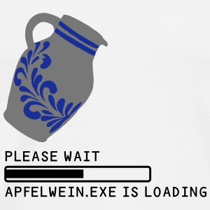 MOUSE PAD - APFELWEIN.EXE is loading... - Männer Premium T-Shirt