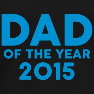 Dad of the Year 2015 Kopper & tilbehør - Premium T-skjorte for menn