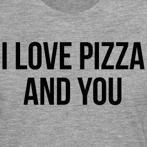 I love pizza and you Pullover & Hoodies - Männer Premium Langarmshirt