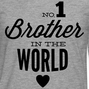 no1 brother of the world Tee shirts - T-shirt manches longues Premium Homme