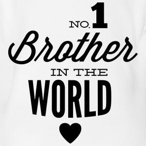 no1 brother of the world Tee shirts - Body bébé bio manches courtes