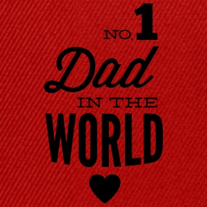 no1 dad of the world Magliette - Snapback Cap
