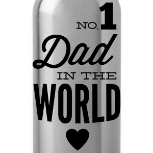 no1 dad of the world Camisetas - Cantimplora