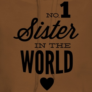 no1 sister of the world T-shirts - Vrouwen Premium hoodie