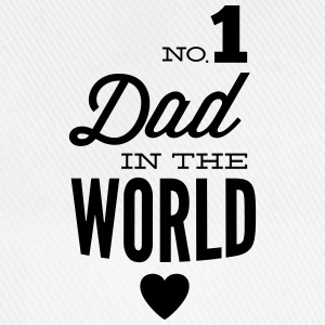 no1 dad of the world Tröjor - Basebollkeps