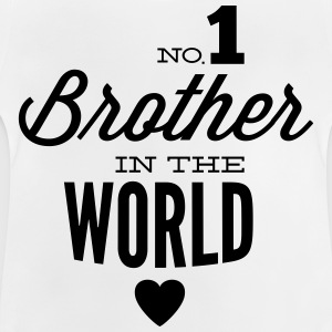 no1 brother of the world Sweats - T-shirt Bébé