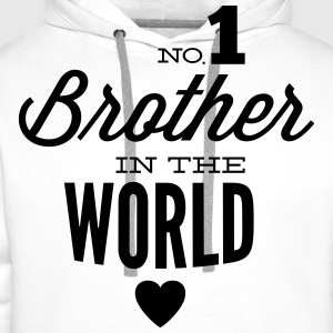 no1 brother of the world Camisetas - Sudadera con capucha premium para hombre