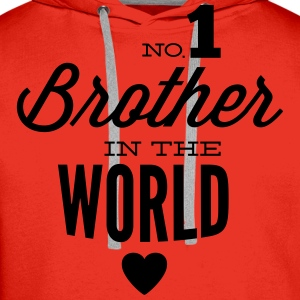 no1 brother of the world Shirts met lange mouwen - Mannen Premium hoodie