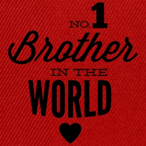 no1 brother of the world Shirts met lange mouwen - Snapback cap