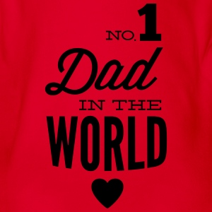 no1 dad of the world Manches longues - Body bébé bio manches courtes