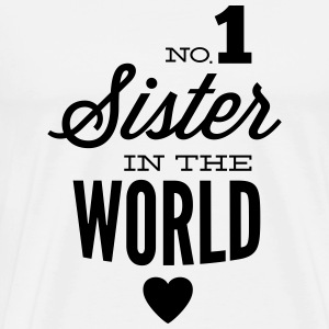 no1 sister of the world Toppar - Premium-T-shirt herr