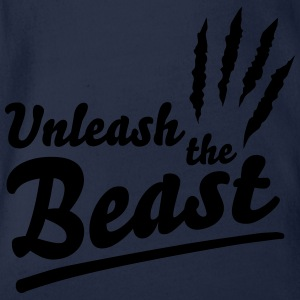 Unleash the beast Shirts - Baby bio-rompertje met korte mouwen