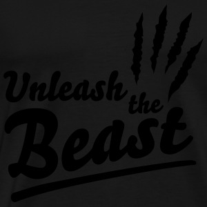 Unleash the beast Gensere - Premium T-skjorte for menn