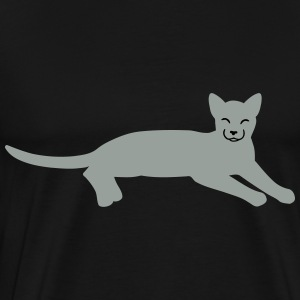 white cat vector Gensere - Premium T-skjorte for menn