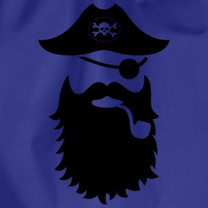 piraten moustache - Turnbeutel
