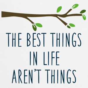 Wit The best things in life Mokken & toebehoor - Keukenschort