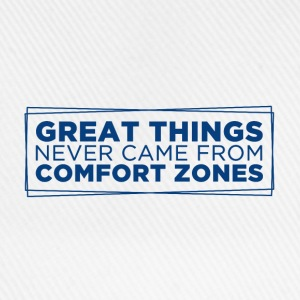 Hvit Great things never came from comfort zones Annet - Baseballcap