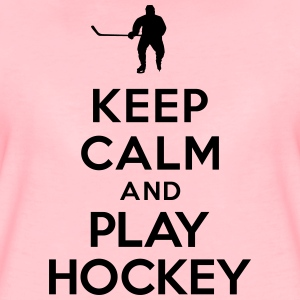 Keep calm play hockey Sweat-shirts - T-shirt Premium Femme