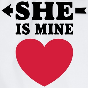 She is Mine I love you my Girlfriend Hou van je Shirts - Gymtas
