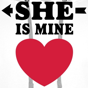 She is Mine I love you my Girlfriend Freundin Girl Tank Tops - Männer Premium Hoodie