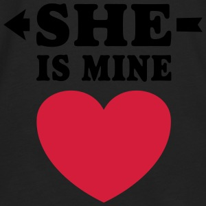 She is Mine I love you my Girlfriend te amo mi nov Sudaderas - Camiseta de manga larga premium hombre