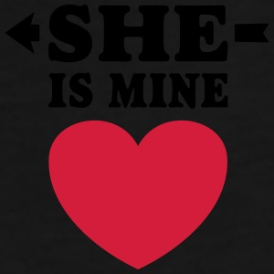 She is Mine I love you my Girlfriend te amo mi nov Gorras y gorros - Camiseta premium hombre