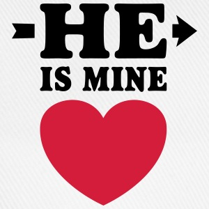 He is mine I love you my Boyfriend Ik hou van jou Shirts met lange mouwen - Baseballcap