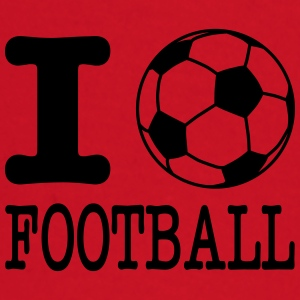 i love football with ball Caps & luer - Langarmet baby-T-skjorte