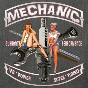 Mechanic spark pinup girl Pullover & Hoodies - Schultertasche aus Recycling-Material