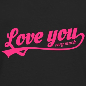 love you very much Petten & Mutsen - Mannen Premium shirt met lange mouwen