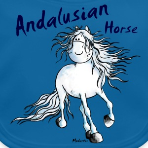 Andalusische Paard - Andalusiër Shirts - Bio-slabbetje voor baby's