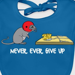 Never ever give up (dark) Tee shirts - Bavoir bio Bébé