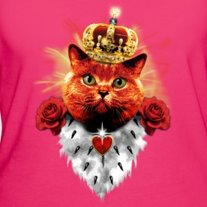 Red Roses Cat the Queen rote Katze Stoffbeutel - Frauen Bio-T-Shirt