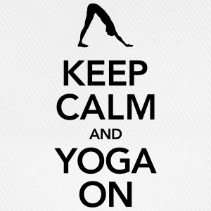 Keep Calm And Yoga On Tanktoppar - Basebollkeps