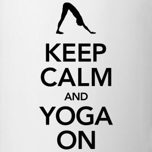 Keep Calm And Yoga On Tanktoppar - Mugg