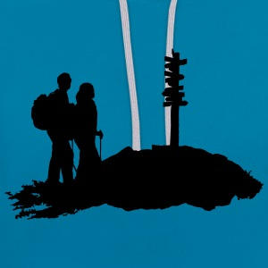 hiking, hiker - Contrast Colour Hoodie