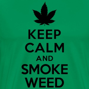 Keep calm and smoke weed Tabliers - T-shirt Premium Homme