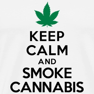 Keep calm and smoke cannabis Débardeurs - T-shirt Premium Homme